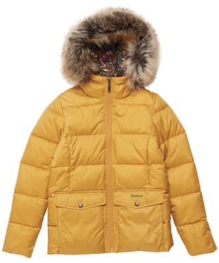 Girl's Barbour Bayside Quilted Jacket - 6-9yrs - Honey Mustard
