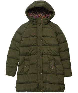 Girl's Barbour Crimdon Quilted Jacket - 6-9yrs - Olive