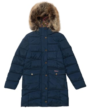 Girl's Barbour Beresford Quilted Jacket - 6-9yrs - Navy