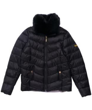 Girl's Barbour International Sportsman Quilted Jacket - 6-9yrs - Black
