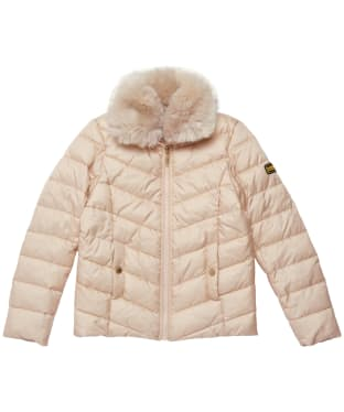 Girl's Barbour International Sportsman Quilted Jacket - 6-9yrs - Champagne