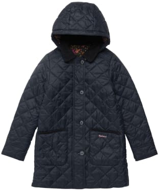 Girl's Barbour Lovell Quilted Jacket - 6-9yrs - Navy