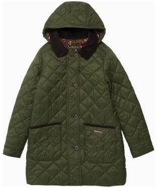 Girl's Barbour Lovell Quilted Jacket - 6-9yrs - Olive