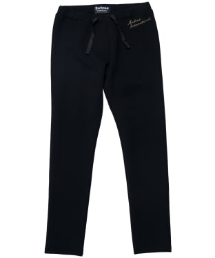 Girl's Barbour International Chequer Track Trousers - 6-9yrs - Black