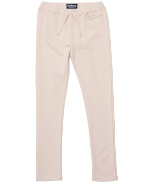 Girl's Barbour International Chequer Track Trousers - 6-9yrs - Champagne