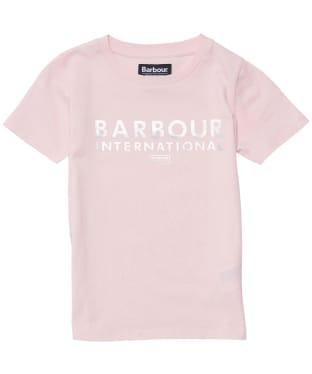 Girl's Barbour International Montegi Tee - 6-9yrs - Pink Frost
