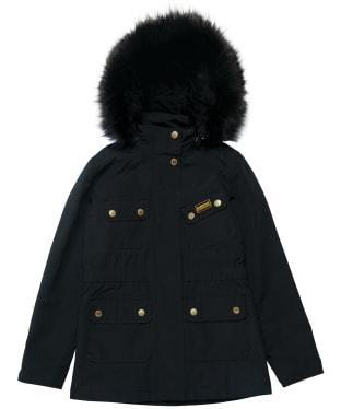 Girl's Barbour International Wanneroo Jacket - 10-14yrs - Black