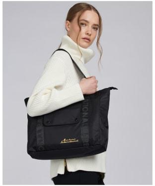 Women's Barbour International Apex Tote Bag - Black