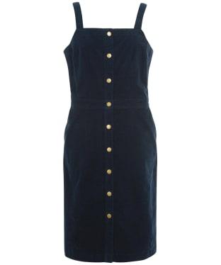 Women's Barbour Darcie Cord Pinafore Dress - Navy