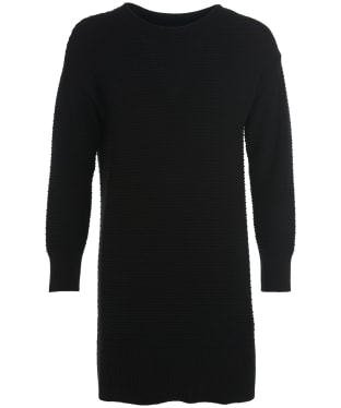 Women's Barbour International Picton Ribbed Dress - Black