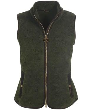 Women's Barbour Burford Fleece Gilet - Olive
