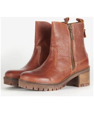 Women's Barbour Mckeand Ankle Boots - Cognac