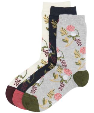 Women's Barbour Floral Fern Socks Gift Set - Floral