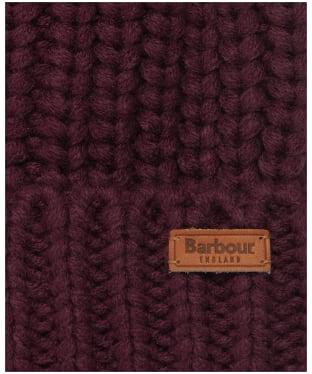 Women's Barbour Saltburn Bobble Hat - Elderberry