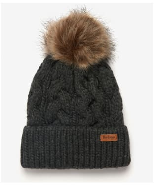 Women's Barbour Penshaw Cable Beanie - Charcoal