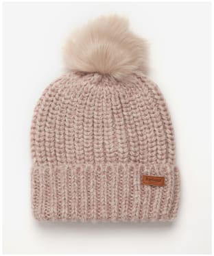 Women's Barbour Rothbury Beanie - Pale Pink