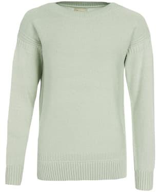 Women's Barbour Sailboat Knit Sweater - Mint / White Twist
