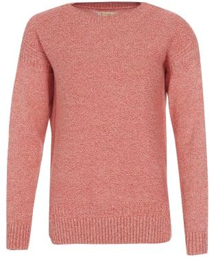 Women's Barbour Sailboat Knit Sweater - Orange / White Twist