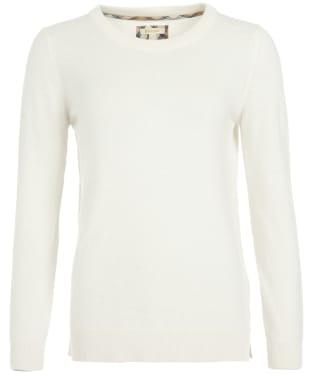 Women's Barbour Pendle Crew Knit Sweater - Cream / Hessian