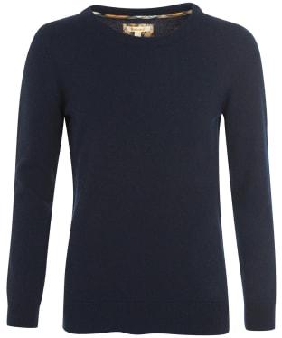Women's Barbour Pendle Crew Knit Sweater - Navy / Hessian