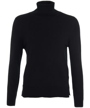 Women's Barbour Pendle Roll Collar Sweater - Black / Hessian
