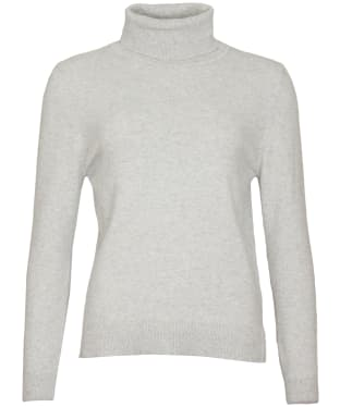 Women's Barbour Pendle Roll Collar Sweater - Pale Grey Marl / Hessian
