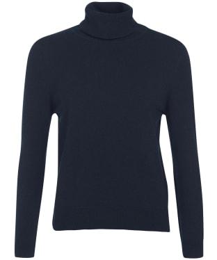 Women's Barbour Pendle Roll Collar Sweater - Navy / Hessian