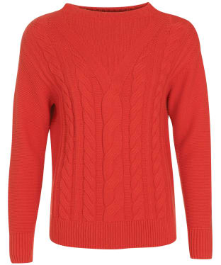 Women's Barbour Foxton Knit - Flame Red