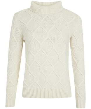 Women's Barbour Burne Roll Neck Knit - Cream