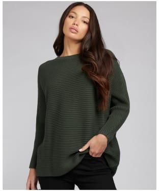Women's Barbour International Galvez Sweater - Soft Moto Green