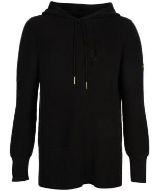 Women's Barbour International Monza Knitted Hoodie - Black
