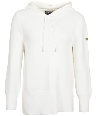 Women's Barbour International Monza Knitted Hoodie - Frost