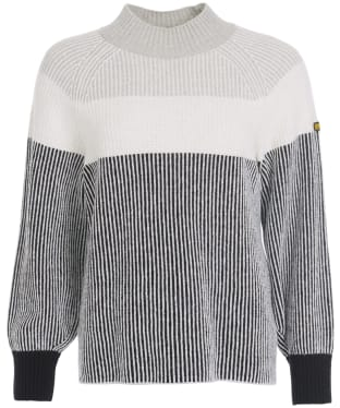 Women's Barbour International Picard Sweater - Chrome