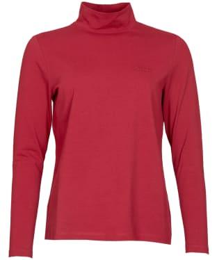 Women's Barbour Foxton Top - Dark Beet Red