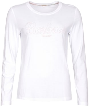 Women's Barbour Ginny L/S T-Shirt - White