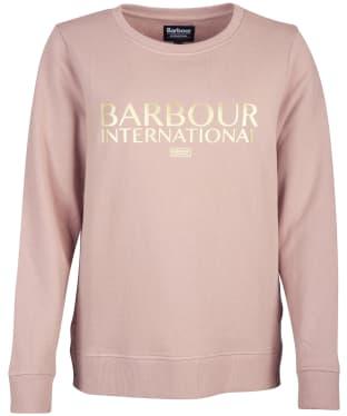 Women's Barbour International Chicane Sweatshirt - Fawn