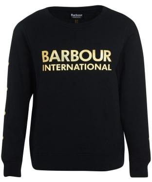 Women's Barbour International Reine Sweatshirt - Black