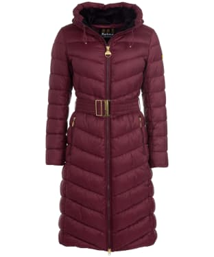 Women's Barbour International Lineout Quilted Jacket - Merlot