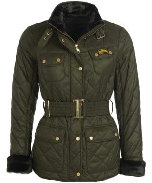 Women's Barbour International Modern International Polarquilt Jacket - Moto Green