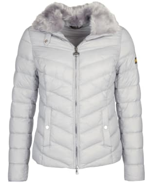 Women's Barbour International Sportsman Quilted Jacket - Ice White