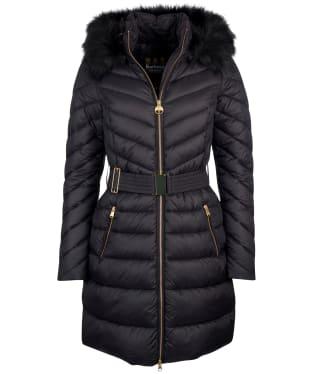Women's Barbour International Darley Moore Quilted Jacket - Black