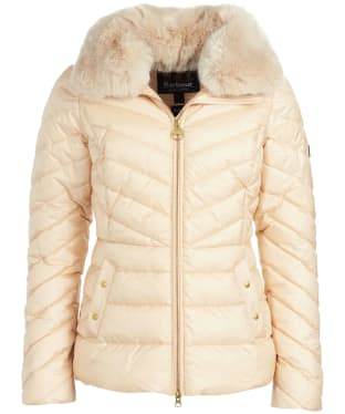 Women's Barbour International Simoncelli Quilted Jacket - Champagne