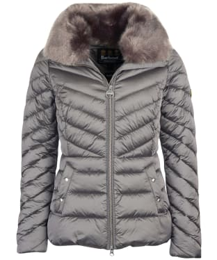 Women's Barbour International Simoncelli Quilted Jacket - Chrome