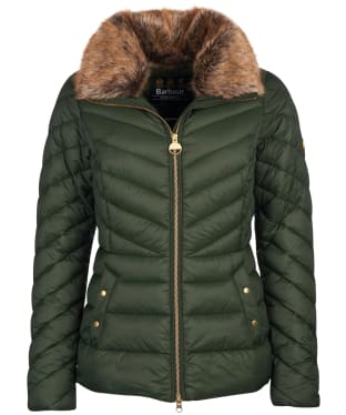 Women's Barbour International Simoncelli Quilted Jacket - Moto Green