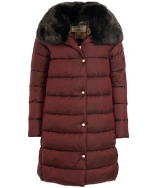 Women's Barbour Portobello Quilted Jacket - Dark Plum