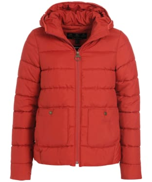 Women's Barbour Oaktree Quilted Jacket - Flame Red