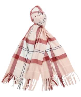 Women's Barbour Hailes Tartan Wrap - Red / Pink