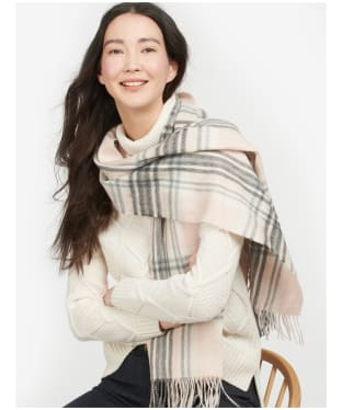 Women's Barbour Lonnen Check Scarf - Pink / Grey