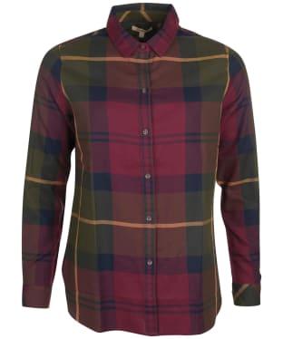 Women's Barbour Moorland Shirt - Elderberry Check
