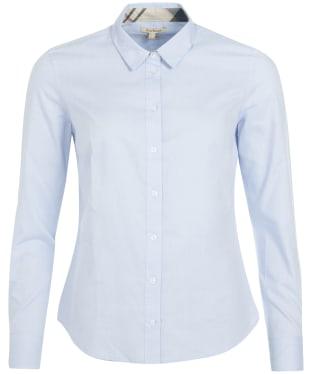 Women's Barbour Derwent Shirt - Pale Blue / Hessian